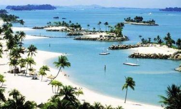 Ένα νησί με τεχνητές παραλίες (φωτο)