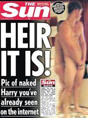 Πρώτη η Sun δημοσιεύει γυμνή φωτογραφία του πρίγκιπα Χάρι και «σπάει» τη συμφωνία με τη βασιλική οικογένεια!