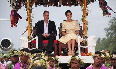William και Kate: Βασιλική υποδοχή στο Τουβαλού