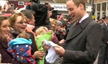 Ο πρίγκιπας William έλαβε το πρώτο δώρο για το μωρό του!