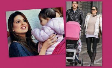 Σταματίνα Τσιμτσιλή: Με φουσκωμένη κοιλίτσα βόλτα με τον σύζυγο και τη κόρη της!