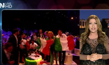 Eurovision 2015: Εντυπωσιακή η Παπαρίζου ανακοίνωσε τη βαθμολογία της Ελλάδας