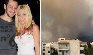 Έντρομη η σύζυγος του Πάνου Καλίδη από την πυρκαγιά: «Ας μας λυπηθεί ο Θεός»