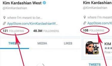 H Kim Kardashian κάνει unfollow σε stars