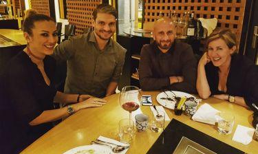 Άγγελος Χαριστέας - Δημήτρης Παπαδόπουλος: Βραδινή έξοδος με τις συζύγους τους