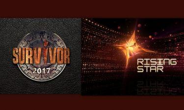 Το Survivor «κατατρόπωσε» το Rising Star – Δείτε τα νούμερα τηλεθέασης