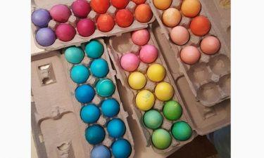 Ποια ηθοποιός έβαψε αυτά τα αυγά;