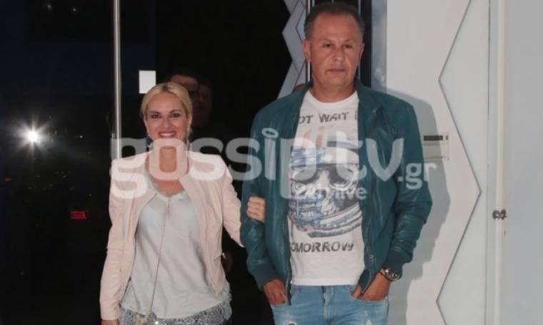 Μαρία Μπεκατώρου: Αγκαζέ με τον σύζυγό της