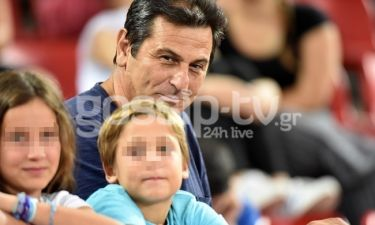 Κώστας Αποστολίδης: Στο γήπεδο με τα παιδιά του
