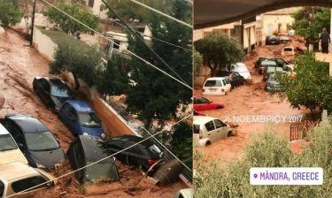 Σοκαρισμένη η παρουσιάστρια τραβάει βίντεο από το μπαλκόνι της: «Καταστράφηκε η γειτονιά μου»