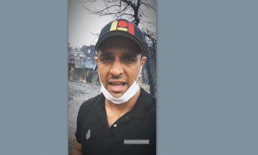 Ο Σάββας Πούμπουρας στο Κόκκινο Λιμανάκι και το μήνυμα συμπαράστασης στους κατοίκους