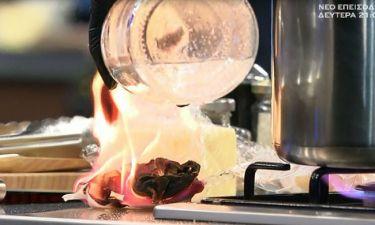 MasterChef: Παίκτρια έβαλε φωτιά στην κουζίνα!
