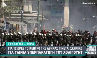 Όχι, δεν συμβαίνουν επεισόδια στην Αθήνα! Είναι σκηνικό ταινίας του Denzel Washington στο Σύνταγμα!