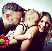 Νατάσα Σκαφίδα και Γιάννης Βαρδής με την κόρη τους