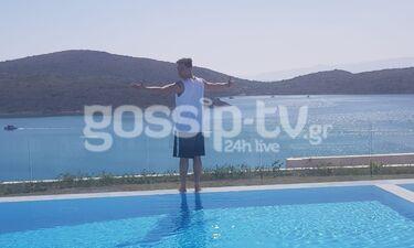 Ευθύμης Ζησάκης: Οι διακοπές στην Κρήτη συνεχίζονται και τον «τσακώσαμε» λίγο πριν τη βουτιά(photos)