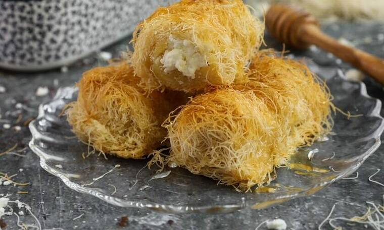 Κανταΐφι με φέτα-Απίστευτη συνταγή από τον Γιώργο Τσούλη