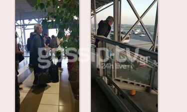 Ο Γιάννης Φέρτης στο αεροδρόμιο Μακεδονίας - Η ταλαιπωρία που υπέστη (photos)