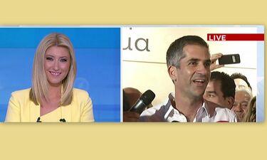 Εκλογές 2019: Η Κοσιώνη έβλεπε τις δηλώσεις του Μπακογιάννη και δεν μπορούσε να κρύψει τη χαρά της