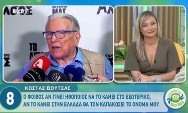 Ο Κώστας Βουτσάς δεν θέλει να γίνει ο γιος του ηθοποιός στην Ελλάδα και εξηγεί τον λόγο! (video)