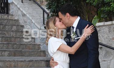 Γάμος Μπαλατσινού - Κικίλια: Η έξοδος του ζευγαριού και το τρυφερό φιλί (exclusive photos&videos)