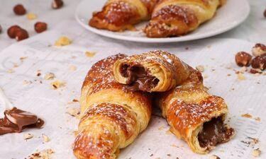 Γρήγορα κρουασανάκια με σοκολάτα και φουντούκι - Θα τα λατρέψεις