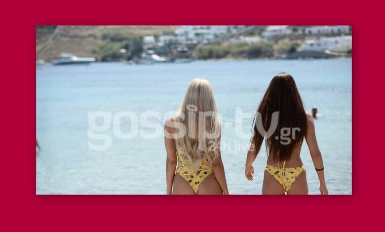 Μύκονος: Οι δύο κολλητές πήγαν παραλία με το ίδιο μαγιό - Ποια το φόρεσε καλύτερα; (photos)