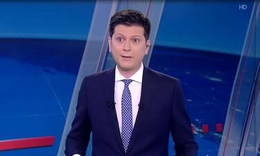 Σεισμός Αθήνα: Δείτε πώς αντέδρασε ο παρουσιαστής την ώρα του σεισμού στο δελτίο ειδήσεων του ΣΚΑΪ